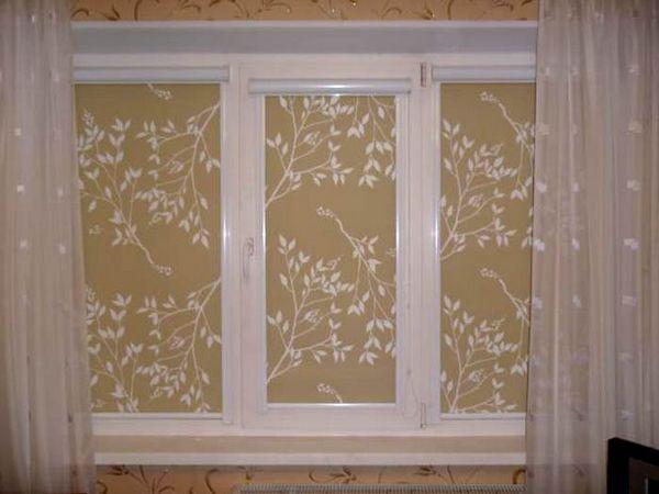 кассетные рулонные шторы на пластиковые окна без сверления