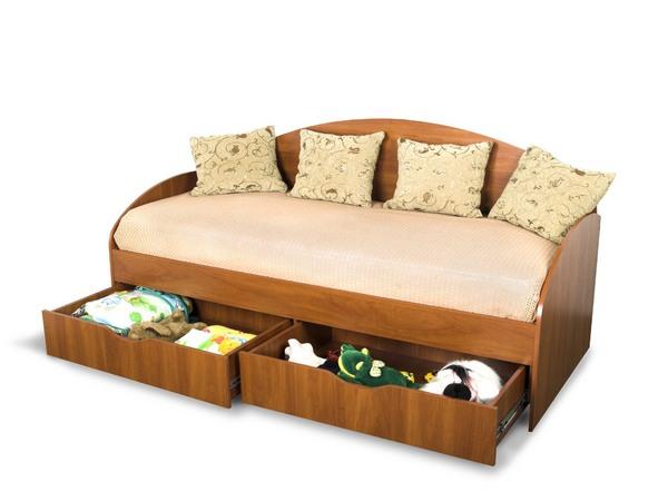 односпальные кровати с ящиками для белья